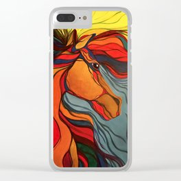 Wild Horse Breaking Free Southwestern Style Clear iPhone Case