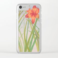 Lily Bloom Clear iPhone Case