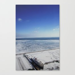 Frozen Lake Michigan 2!  Canvas Print