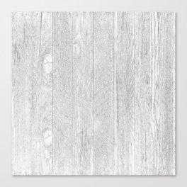 Whitewashed wood Canvas Print