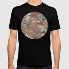 Fishes & Flowers - Seamless pattern MEDIUM Mens Fitted Tee Black