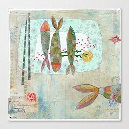 Fishy Feast Canvas Print