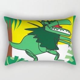 Dilophosaurus in the Jungle Rectangular Pillow