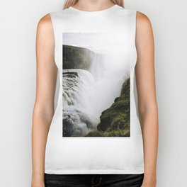 Gullfoss waterfall in Iceland - Landscape Photography Biker Tank