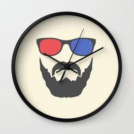 3D beard Wall Clock