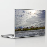 rileigh smirl Laptop & iPad Skins featuring At the Beach by Rileigh Smirl
