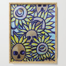 S is for Sunflowers and Skulls Serving Tray