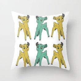 Bambi's Psychotic Episode Throw Pillow