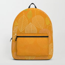 LEAVES ENSEMBLE ORANGE YELLOW Backpack