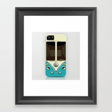 Sale for charity! Blue teal VW volkswagen mini van bus kombi camper iphone 4 4s 5 & galaxy s4 case Framed Art Print