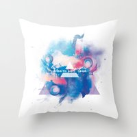 30 seconds to mars Throw Pillows featuring 30 Seconds to Mars by Rose's Creation