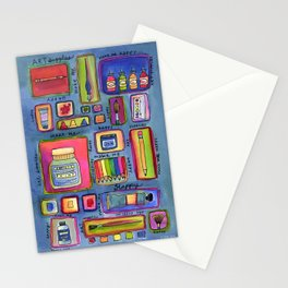 Art Supplies Make Me Happy Stationery Cards