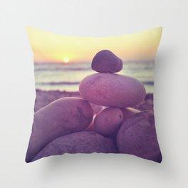 Rockin' the sunset Throw Pillow