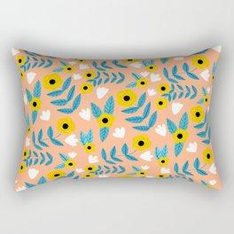 Yellow Flowers Dance Rectangular Pillow