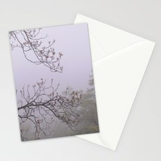 Mountain trees. Into the foggy woods Stationery Cards
