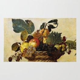 "Michelangelo Merisi da Caravaggio ""Basket of Fruit"" Rug"