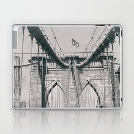Brooklyn bridge, architecture, vintage photography, new york city, NYC, Manhattan view Laptop & iPad Skin
