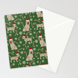 Cairn Terrier dog breed christmas snowflakes candy canes winter holiday pet gifts Stationery Cards