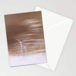 Ghostly wind turbines Stationery Cards