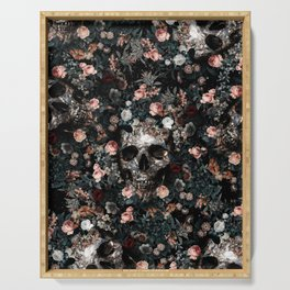 Skull and Floral pattern Serving Tray