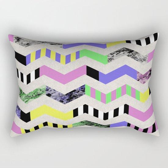 Crazy Zig Zags Rectangular Pillow