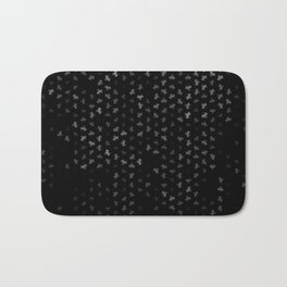 capricorn zodiac sign pattern bw Bath Mat