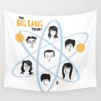 big bang Wall Tapestries featuring The Big Bang Theory by ilusland .:. marcelo BAdARI