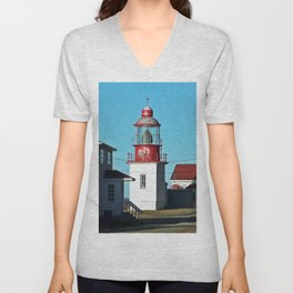 Cap-Chat Lighthouse in Spring Unisex V-Neck