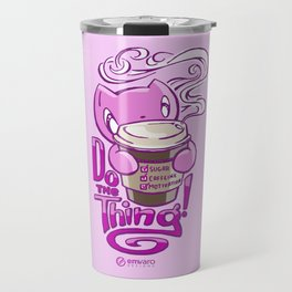Skribbles: DO THE THING (pink) Travel Mug