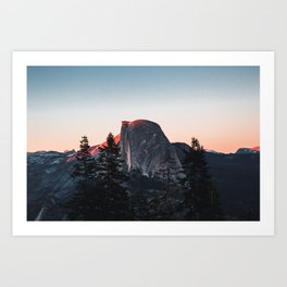 Last Light at Yosemite National Park Art Print