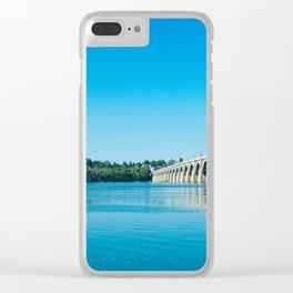 Blue Susquehanna River Clear iPhone Case