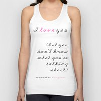wes anderson Tank Tops featuring Moonrise Kingdom Wes Anderson Movie Quote by FountainheadLtd