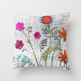 Go wild, flowers! Throw Pillow