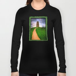Path To The Top Of Magical Glastonbury Tor Long Sleeve T-shirt