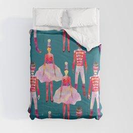 Nutcracker Ballet - Teal Blue Comforters