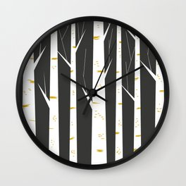 Birch forest Wall Clock