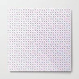 Lilac Violet Dots Pattern Metal Print