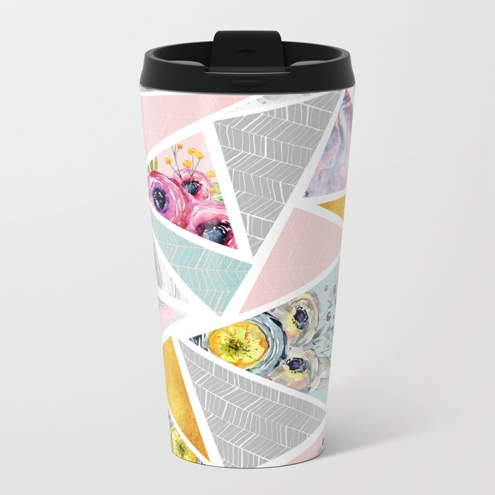 Mix geometric Metal Travel Mug