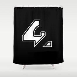 42 - Black Shower Curtain