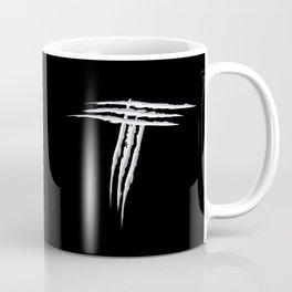 Letter T scratch (wht) Coffee Mug