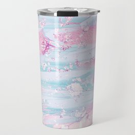 Shine Shimmer Pastel Pink and Blue Modern Travel Mug