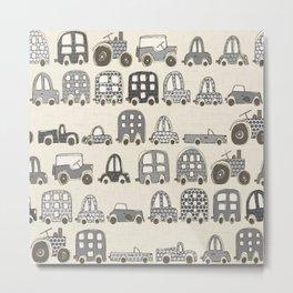 retro rides mono Metal Print