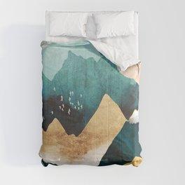 Daybreak. Vintage nature illustration art. Comforters