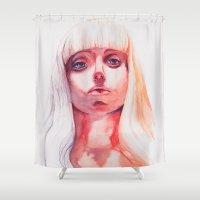 artpop Shower Curtains featuring ARTPOP by Maria Bruggeman