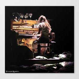 Live weird piano Canvas Print