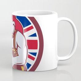 British Bulldog Fireman Union Jack Flag Icon Coffee Mug