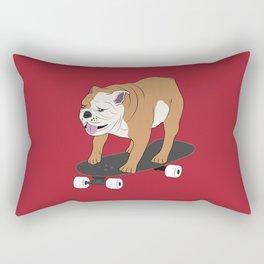 Skateboarding bulldog Rectangular Pillow