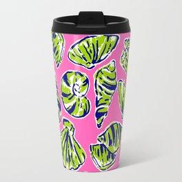 Shells on Pink Travel Mug