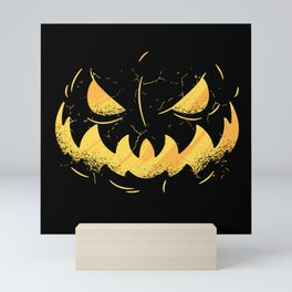 Halloween Pumpkin Scary Monster Mini Art Print