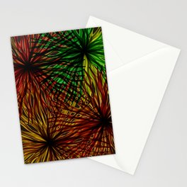 Anemones Aflame Abstract Marine Life Stationery Cards